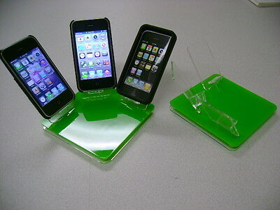 LOT 10 NEW STAND HOLDER CELL PHONE DISPLAY 3 in 1 GREEN