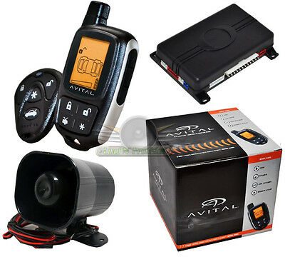 Avital 5303  2-Way LCD Remote Start And Security Car Alarm System New 5305L