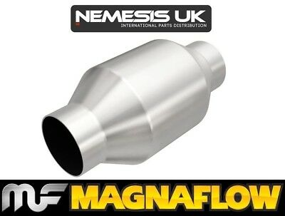"""2.5"""" 63mm ID 200 Cell 4"""" Round Universal High Flow Sports Catalytic Converter"""
