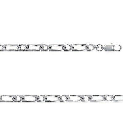 Chaine LARGE HOMME maille figaro 1-1 60 cm 4 mm ARGENT NEUF