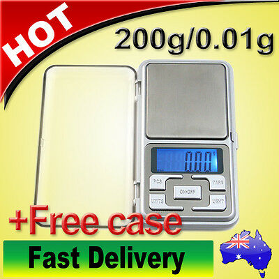 200g/0.01g Mini Electronic Digital Scale Pocket Portable Scales Jewelry Balance