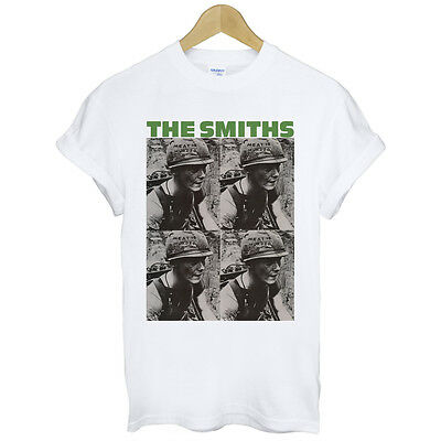 New The Smiths meat is murder rock band design photo cotton men white t-shirt