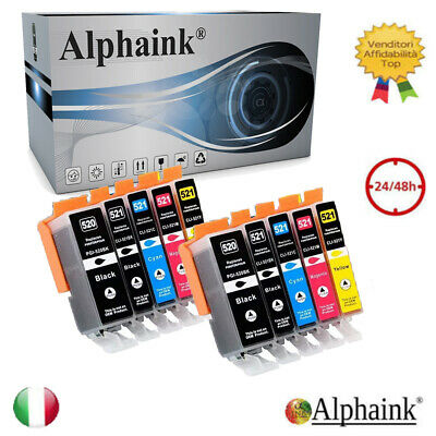 10 Cartucce Per Canon Pixma Ip3600 Ip4600 Ip4700 Mp540 Mp620 Mp640 Mp980 Mx860
