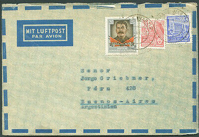 GERMANY DDR TO ARGENTINA Old Air Mail Cover VF