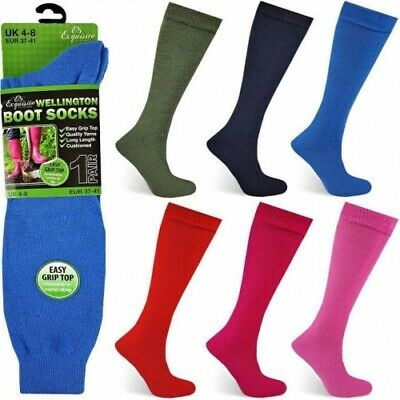 New Ladies Wallington Boot Thermal Women Wellie Liner Stretchable Long Socks