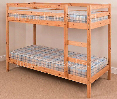 Brand New Modern Design 3Ft Single Pine Bunk Bed - Mattresses In Shop