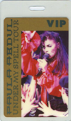 Paula Abdul 1993 Laminated Backstage Pass American Idol