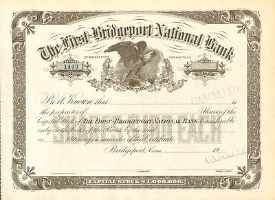 BRIDGEPORT CONNECTICUT BANK   stock certificate share