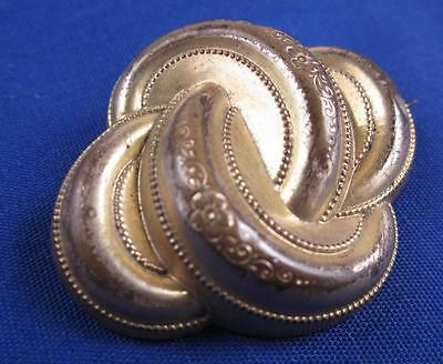 Gold Filled Antique Victorian Brooch Pin Rings Hollow Art Nouveau Lovely