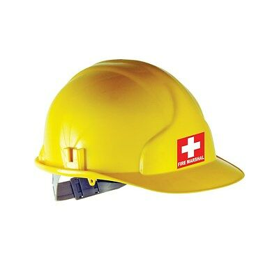 FIRE MARSHALL STICKER - SUITABLE FOR HELMETS AND HARD HATS - 5cms x 5cms