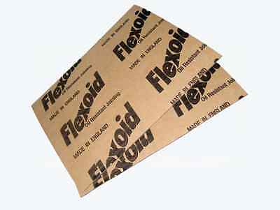 GASKET PAPER 0.4mm THICK - 2 x A4 SHEETS FOR FUEL, OIL & WATER SEALS - FLEXOID
