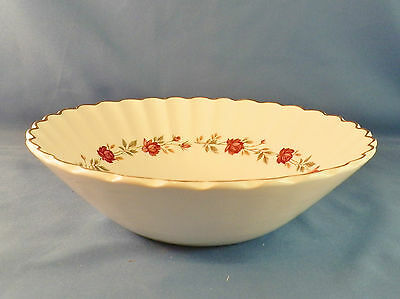 VINTAGE J & G MEAKIN ENGLISH IRONSTONE ROSE MARIE PATTERN, SOUP OR CEREAL BOWL
