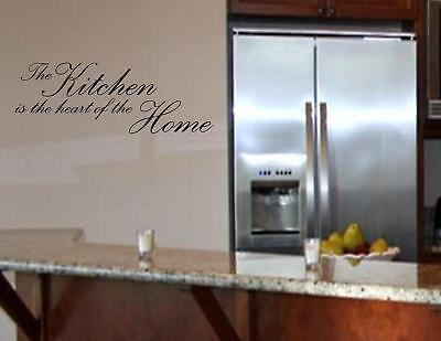 The Kitchen Is The Heart Of The Home- Vinyl Quote Me Wall Art Decals #0803