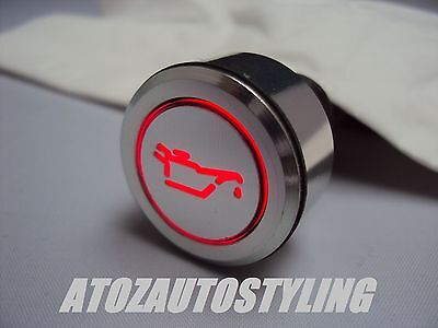 Savage Oil Warning Switch In Red Led And Silver Finish