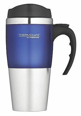 Thermos Thermocafe Voyager 0.42 Litre Travel Car Mug Cup Blue