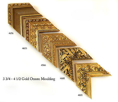 """Custom Picture Frame - GOLD Profile LARGE 4"""" - Any Size! Diplomas & Photos"""