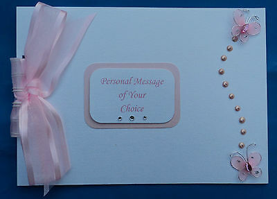Personalised Butterfly Wedding*Birthday*Hen*Christening*Photo Album*Guest Book