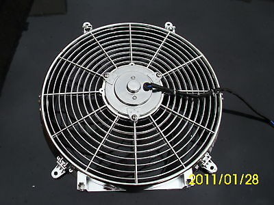 14 Inch Low Profile Chrom  High Performance Thermo Fan