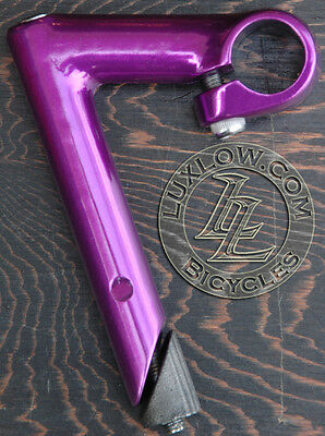 Purple Alloy FIXIE Bicycle Quill Stem 22.2mm Vintage Fixed Gear Track Road Bike