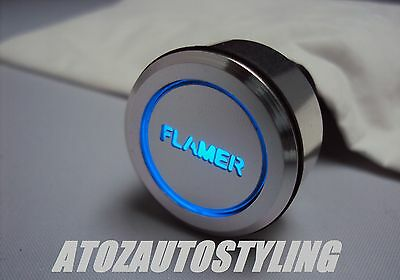 LED BLUE Push Button FLAMER FIRE SPARK Switch Savage Latching <<NEW>>