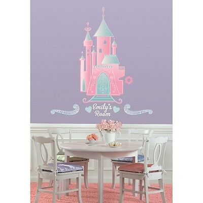 DISNEY PRINCESS CASTLE BiG Wall Stickers PERSONALIZED NAME Room Decals Decor