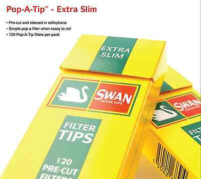 600 Swan Extra Slim Filter Tips 5 Packs X 120 Tips