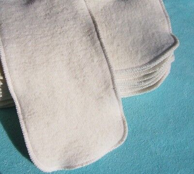 Large Inserts Soakers 15x5 Hemp Organic Cotton Fleece Cloth Pocket Diaper