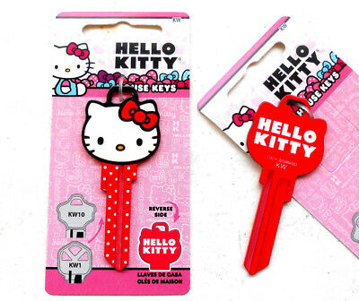 1 Sanrio HELLO KITTY   HEAD SHAPE Key Blank KW - KWIKSET lock