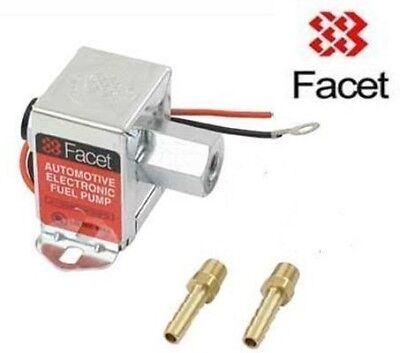 FACET 7.0 - 10 psi Fuel Pump with 8mm unions 40107 solid state electric pump