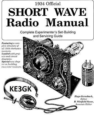 1934 Official Short Wave Radio Manual * Service * Repair * CDROM * PDF