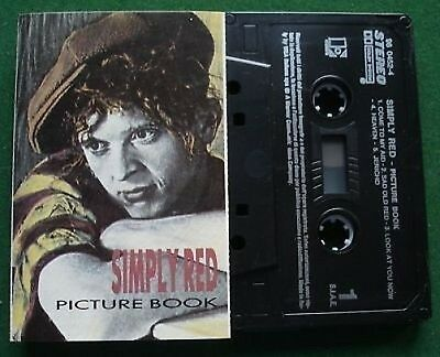 Simply Red Picture Book Italian Issue Cassette Tape - TESTED
