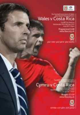 * 2012 - WALES v COSTA RICA (GARY SPEED MEMORIAL GAME) 29th FEB *