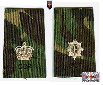 2 x CCF Guards ALL Officers Rank Slides Combined Cadet Force (Foot Guards