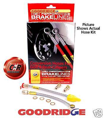 Corrado Goodridge Braided Brake Hose Lines Rear G4 Conv - SVW0506-2P 2 Lines VW