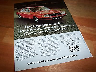 Publicité magazine / Original Advertising AUDI 80 1977 //