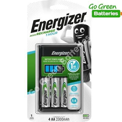 Energizer 1 Hour AA/ AAA Charger + 4 x 2300 mAh Rechargeable Batteries EXTREME