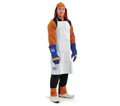 Welders Welding Apron Chrome Leather Full Length with quick release buckles