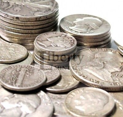 1 OZ. 90% Silver U.S. Coin Lot - Half Dollars, Quarters, or Dimes (Random Mix)