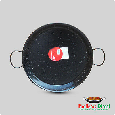 40cm Authentic Traditional Enamelled Steel Paella Pan