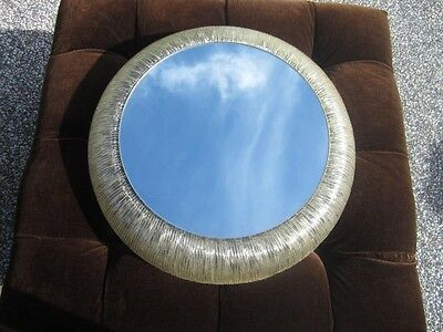 Fantastic Hollywood  Regency Lighted Round Mirror Glamerous Mid-Century