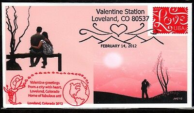 Jvc Cachets - 2012 Valentine's Day Topical Event Cover 'loveland', Co Cancel