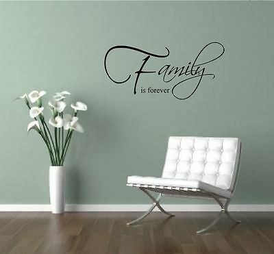 Family Is Forever  WALL ART STICKER DECAL QUOTE