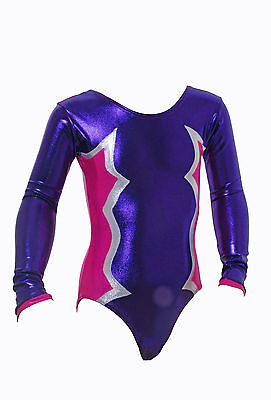 Cosmic Long Sleeve Girls / Ladies / Gym/ Dance/ Gymnastic Leotard   Purple&Pink