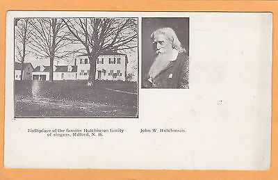 Woman Suffrage Postcard John Hutchinson Family Singers Milford NH Suffragette