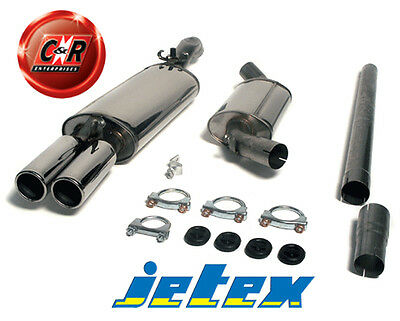 VW Golf Mk2 19/1G All 16V Stainless Steel Jetex Exhaust System 28-HTR 85-91