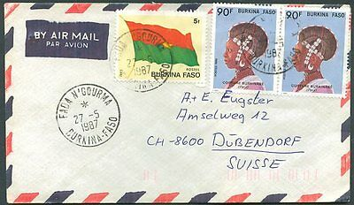 BURKINA FASO TO GERMANY Old Air Mail Cover VF