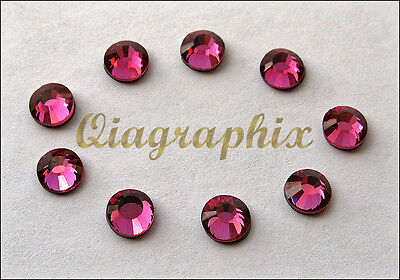 2 x 1440 Pcs DMC Iron On Hotfix Crystal Rhinestones Rose Pink SS10, SS10P