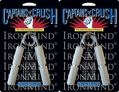 2 Ironmind Captains of Crush CoC Hand grippers 140lb No1/167.5lb No 1.5 Gripper