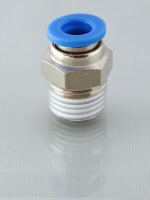 1/2 Bsp Male - 12mm Straight Push in Fitting , Nickel Plated , Top Quality