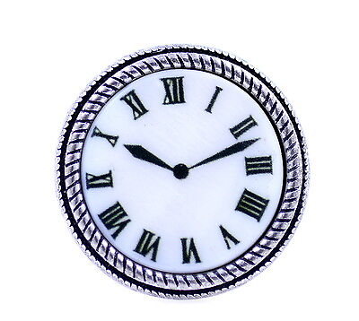 Lovely vintage style resin clock / watch ring, Size P